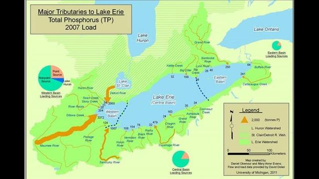 Study says ambitious new pollution targets needed to protect Lake Erie from massive 'dead zone'