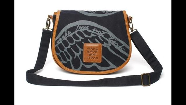 Make Love Not Trash: Crossbody Saddle Bag